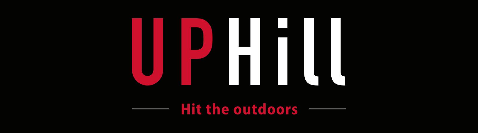 Uphill-brändin logosuunnittelu